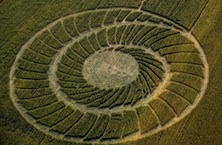 Spiral crop circle in Italy