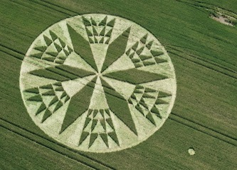 Crop circle: Corley, near Coventry, Warwickshire