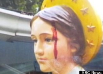 Bleeding statue in Louisiana — A statue of the Madonna in Baton Rouge