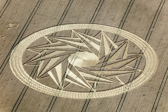 A complex crop circle appeared around 24 July 2012 at Andechs Abbey, Bayern, Germany
