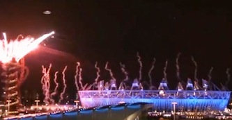 A UFO was filmed passing above London's Olympic stadium