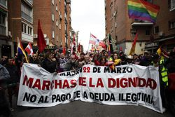 Share International photo for May 2014 – Marching for Dignity