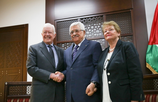Share International June 2015 images, Peace and justice in Israel and Palestine Jimmy Carter.
