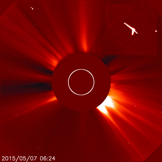 Share International June 2015 images, spacecraft made on Mars photographed by NASA LASCO C2 SOHO cameras