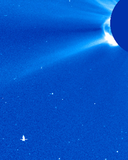 Share International June 2015 images, spacecraft made on Mars photographed by SOHO LASCO C3 camera