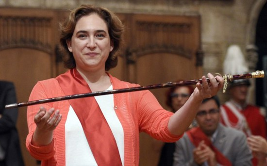 Share International July / August 2015 images, Ada Colau, newly elected mayor of Barcelona
