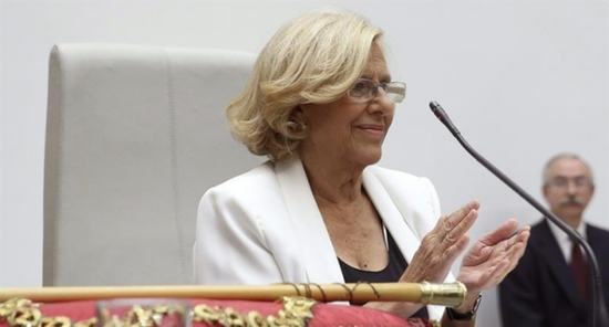 Share International July / August 2015 images, Manuela Carmena, newly elected mayor of Madrid