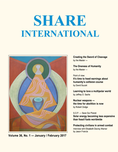 Share International magazine cover for 2017