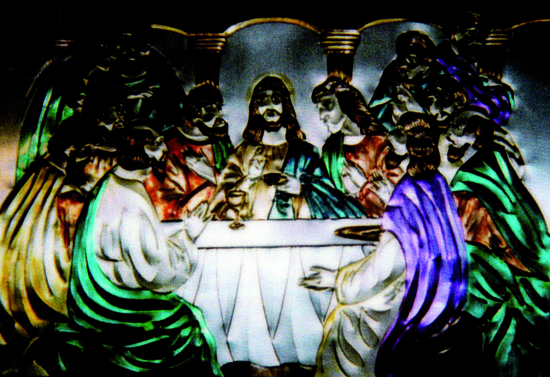 Share International March 2018 images, Painting of the Last Supper