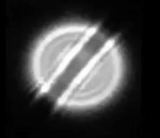 Share International March 2018 images,USA – On 13 January 2018, three witnesses in Yorba Linda, California, observed a large, bright, flashing orb-like object in the night sky.