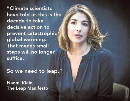 Share International July / August 2018 images, The Leap Manifesto by Naomi Klein