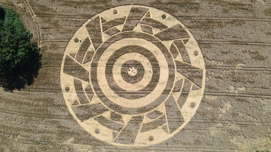 Share International September 2020 images, Crop circle near Ammersee in Bavaria, Germany